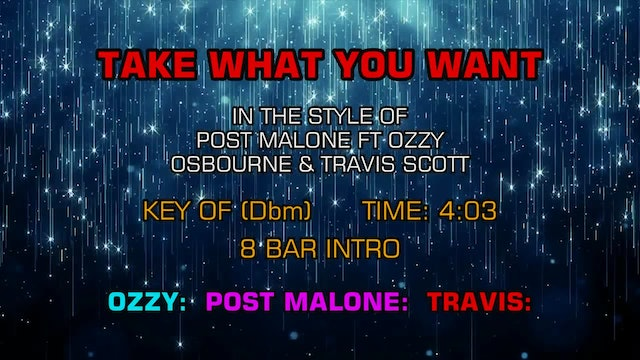 Post Malone ftg. Ozzy Osbourne and Travis Scott -Take What You Want