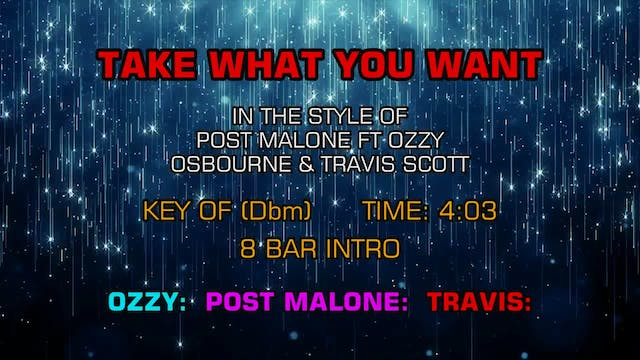 Post Malone ftg. Ozzy Osbourne and Tr...