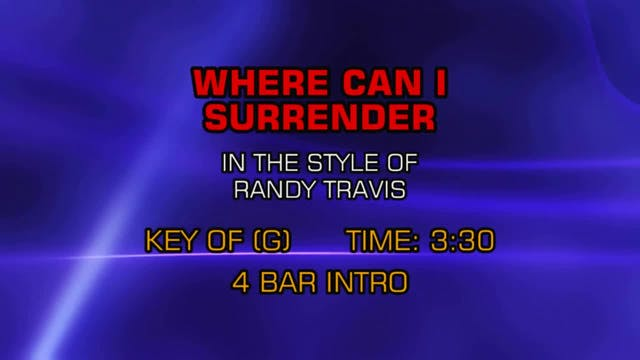 Randy Travis - Where Can I Surrender