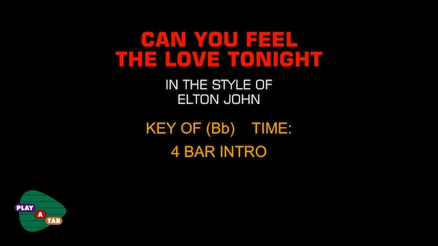 Elton John - Can You Feel The Love Tonight - Play A Tab