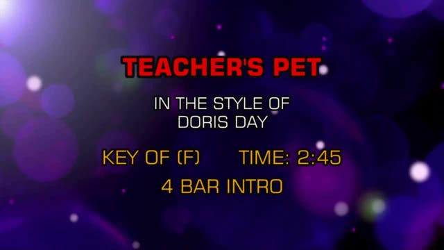 Doris Day - Teacher's Pet