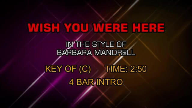 Barbara Mandrell - Wish You Were Here