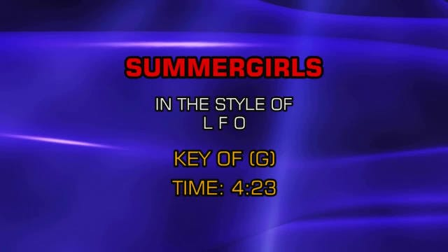 LFO - Summer Girls