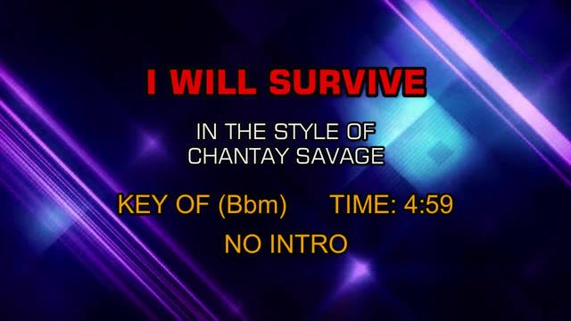 Chantay Savage - I Will Survive