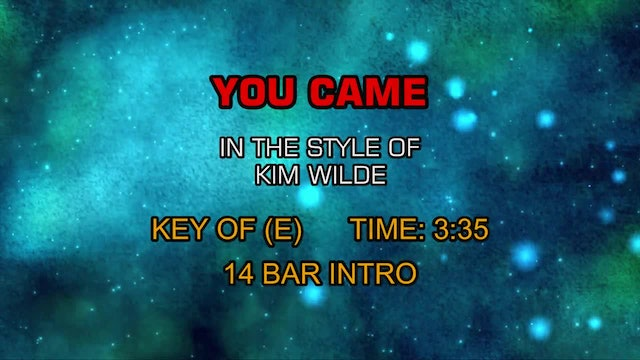 Kim Wilde - You Came
