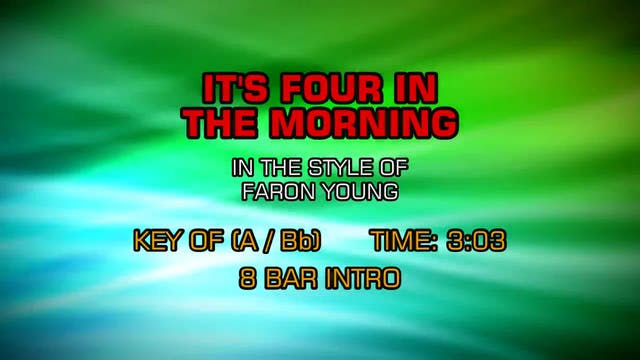Faron Young - It's Four In The Morning