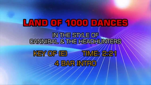 Cannibal And The Headhunters - Land Of 1000 Dances