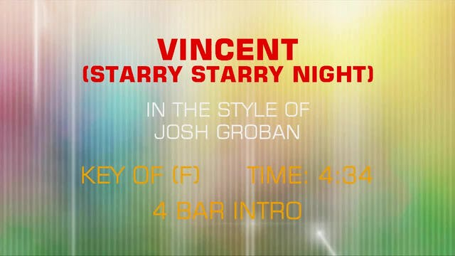 Josh Groban - Vincent (Starry Starry ...