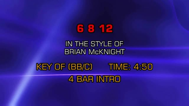 Brian McKnight - 6 8 12