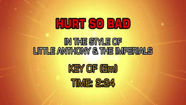 Little Anthony & The Imperials - Hurt...