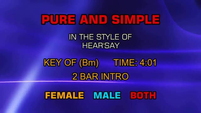 Hear'say - Pure And Simple