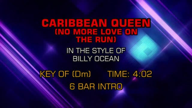 Billy Ocean - Caribbean Queen (No Mor...