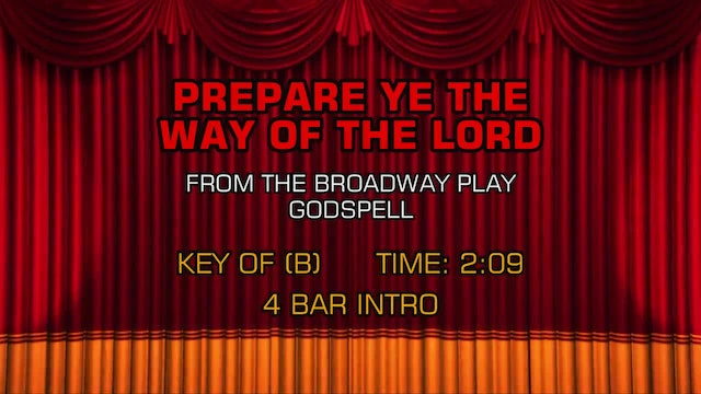 Godspell - Prepare Ye The Way Of The Lord