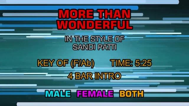 Sandi Patti with Larnell Harris - More Than Wonderful