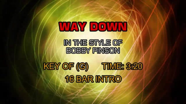 Bobby Pinson - Way Down