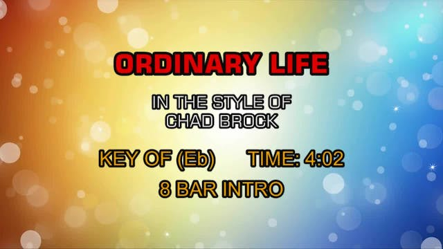 Chad Brock - Ordinary Life