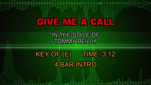 Tommy Reilly - Give Me A Call