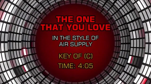 Air Supply - One That You Love, The