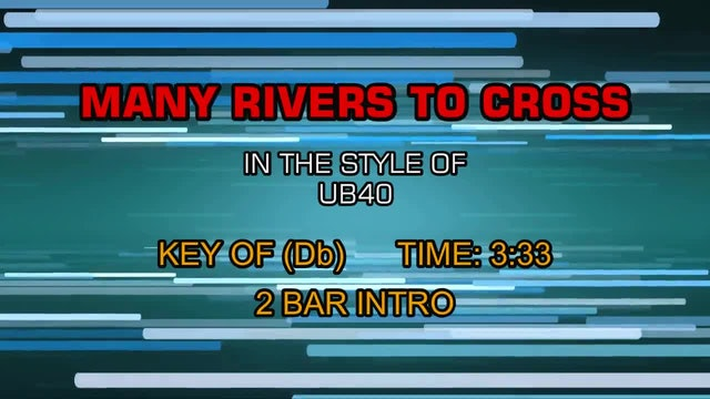 UB40 - Many Rivers To Cross
