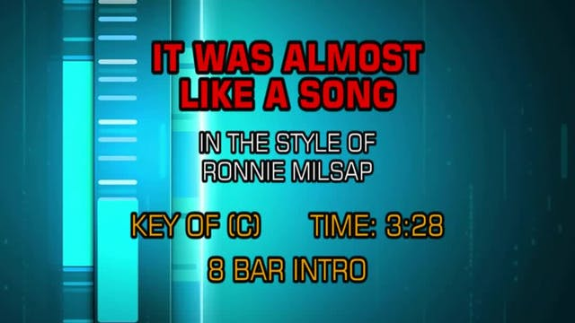 Ronnie Milsap - It Was Almost Like A ...