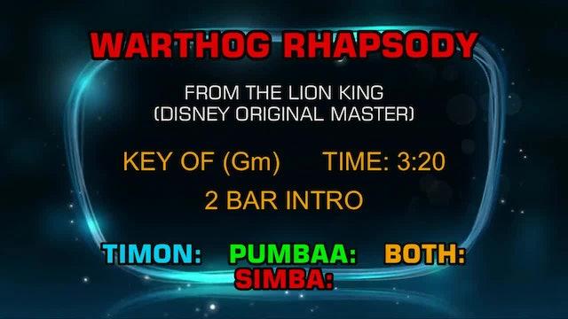 The Lion King (Disney Original Master) - Warthog Rhapsody