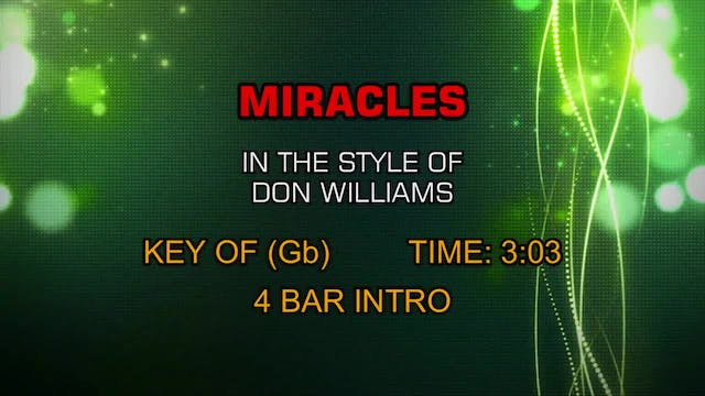 Don Williams - Miracles