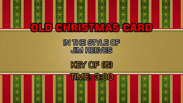 Jim Reeves - Old Christmas Card