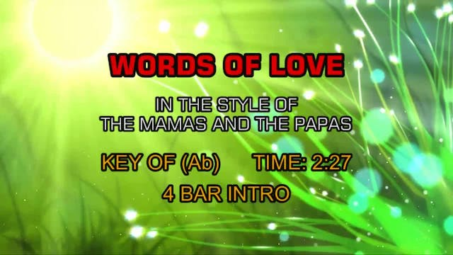 Mamas And The Papas, The - Words Of Love