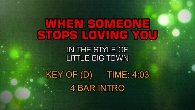 Little Big Town - When Someone Stops ...