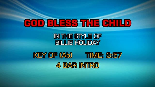 Billy Holiday - God Bless The Child