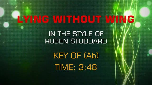 Ruben Studdard - Flying Without Wings