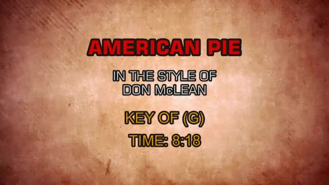 Don McLean -American Pie