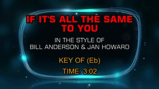 Bill Anderson And Jan Howard - If It'...