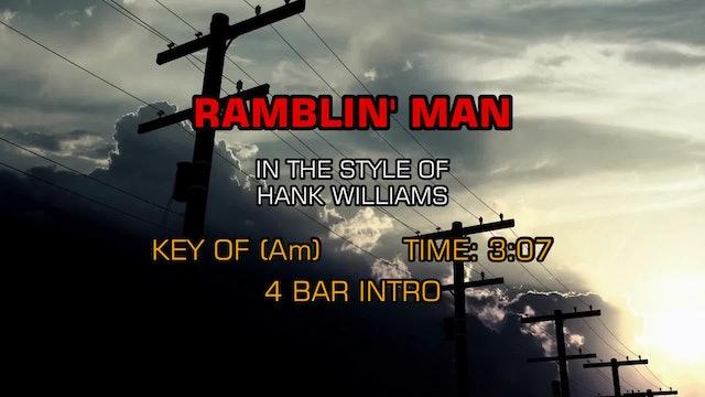 Hank Williams as Luke The Drifter - Ramblin' Man