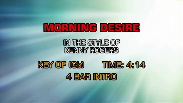 Kenny Rogers - Morning Desire