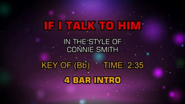 Connie Smith - If I Talk To Him