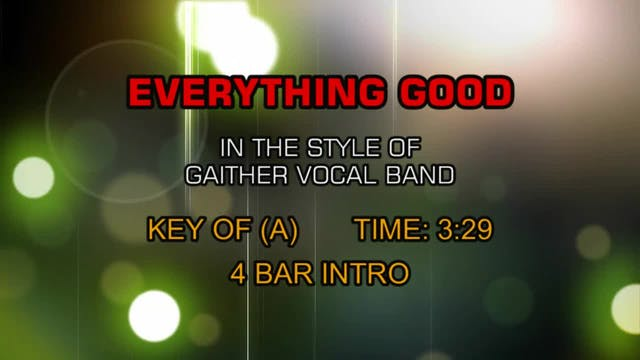 Gaither Vocal Band, The - Everything ...