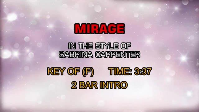 Sabrina Carpenter - Mirage