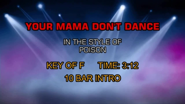 Poison - Your Mama Don't Dance