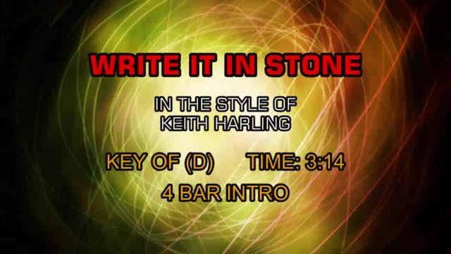 Keith Harling - Write It In Stone