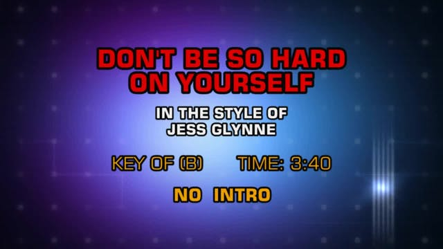 Jess Glynne - Don't Be So Hard On You...