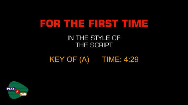 The Script - For the First Time - Pla...