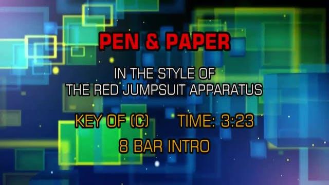 Red Jumpsuit Apparatus - Pen & Paper