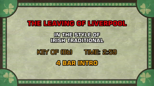 Irish Traditional - The Leaving Of Liverpool