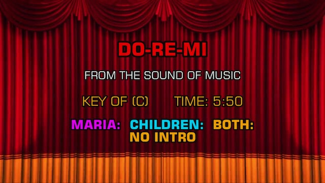 The Sound of Music - Do-Re-Mi