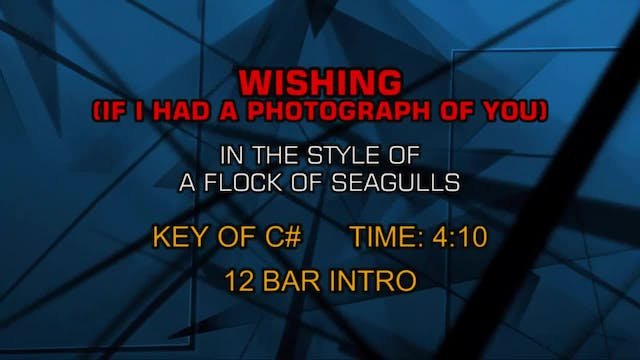 Flock Of Seagulls, A - Wishing (If I ...