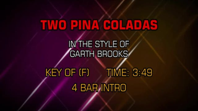 Garth Brooks - Two Pina Coladas