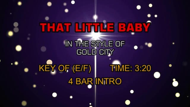 Gold City - That Little Baby