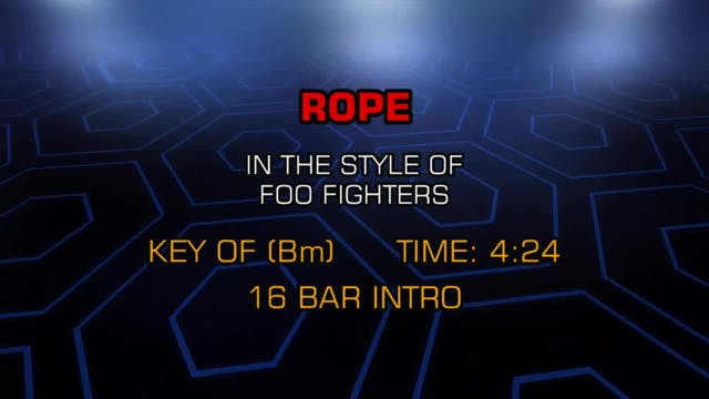 The Foo Fighters - Rope