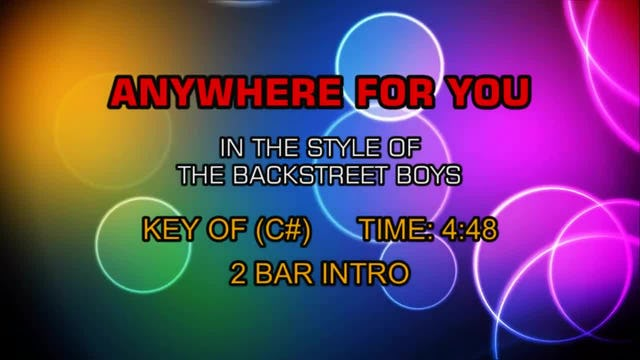 Backstreet Boys, The - Anywhere For You